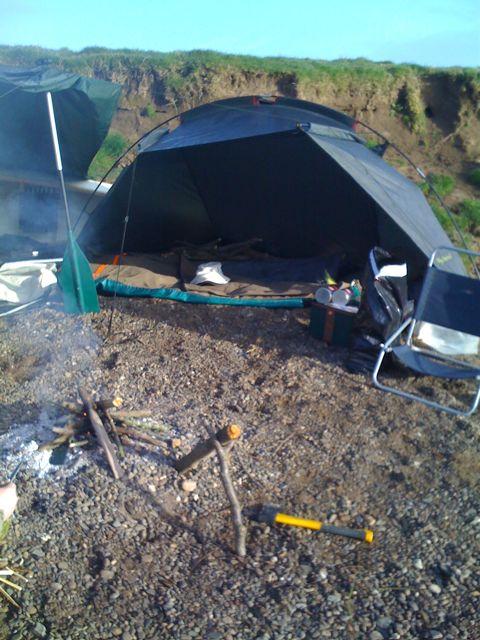 Morning Camp scene...
