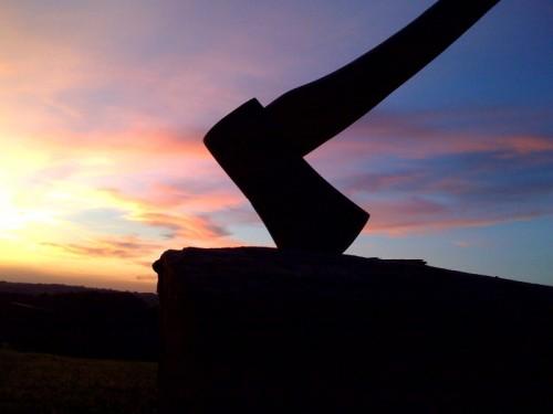 bushcraft axe closeup