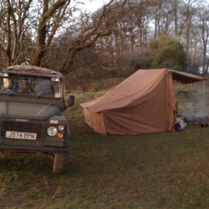 campfire tent landrover